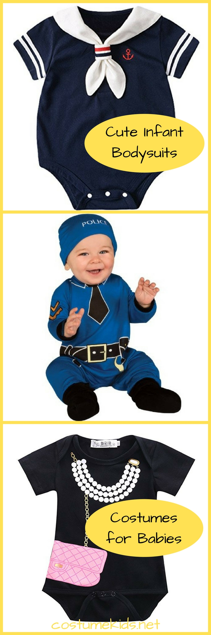 Cute Infant Bodysuits-Adorable Halloween Costume Baby One-Piece Bodysuits