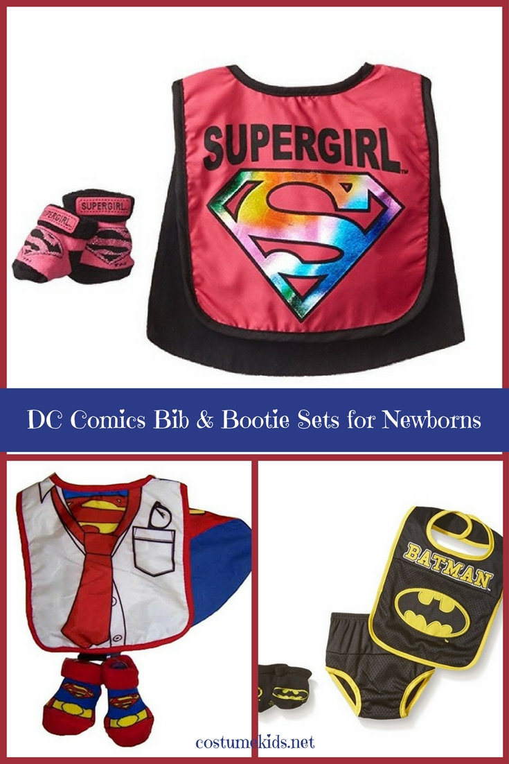 DC Comics Bib and Bootie Sets for Newborns and Infants