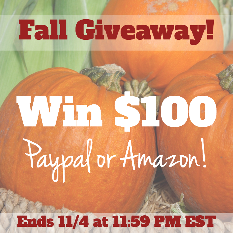 $100 Fall Instagram Giveaway Ends November 4