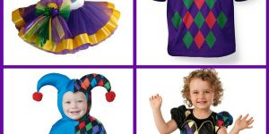 Mardi Gras Jester Costumes for Kids
